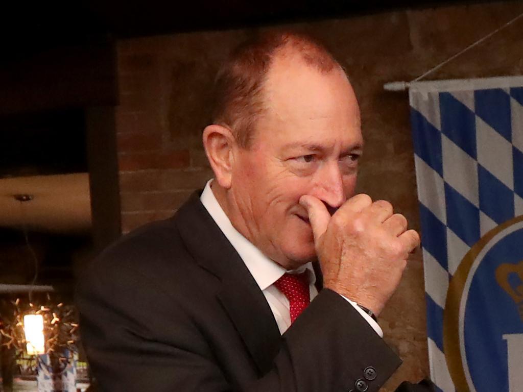 Former senator Fraser Anning in Adelaide. Picture: AAP