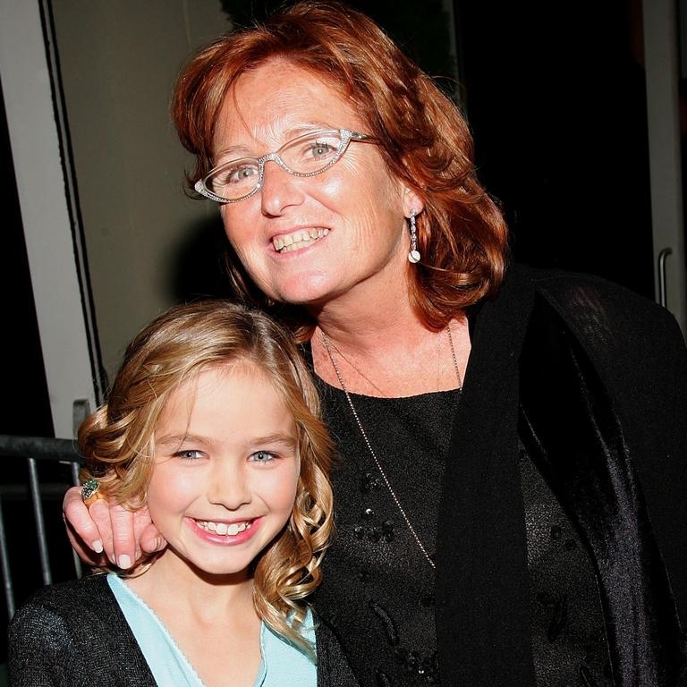 Courtney Kennedy-Hill and daughter Saoirse Kennedy-Hill at an event back in 2006. Picture: Evan Agostini/Getty Images