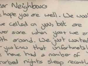 Mum's rant over neighbours' note backfires