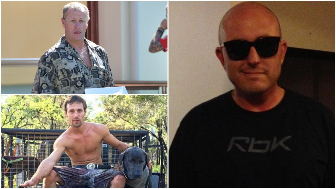 Counterclockwise from right, victim Shaun Barker and Stephen and Matthew Armitage