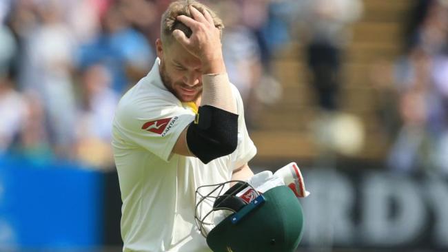 David Warner didn't last long in his Test return.