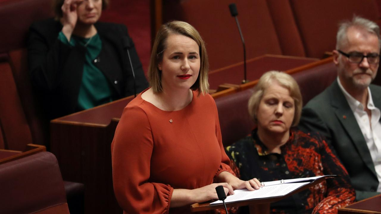 New Labor Senator Nita Green during her first speech in the Senate chamber at Parliament House in Canberra. Picture Gary Ramage