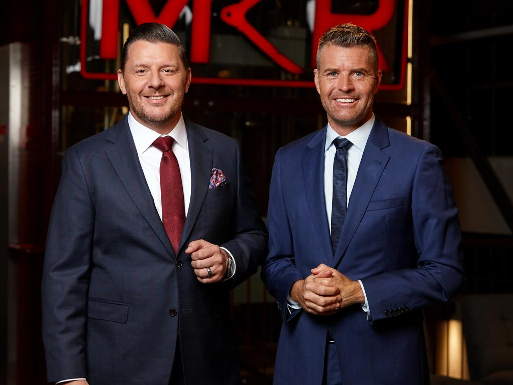 Pete Evans with Manu Feildel where he made his name as a judge on My Kitchen Rules.