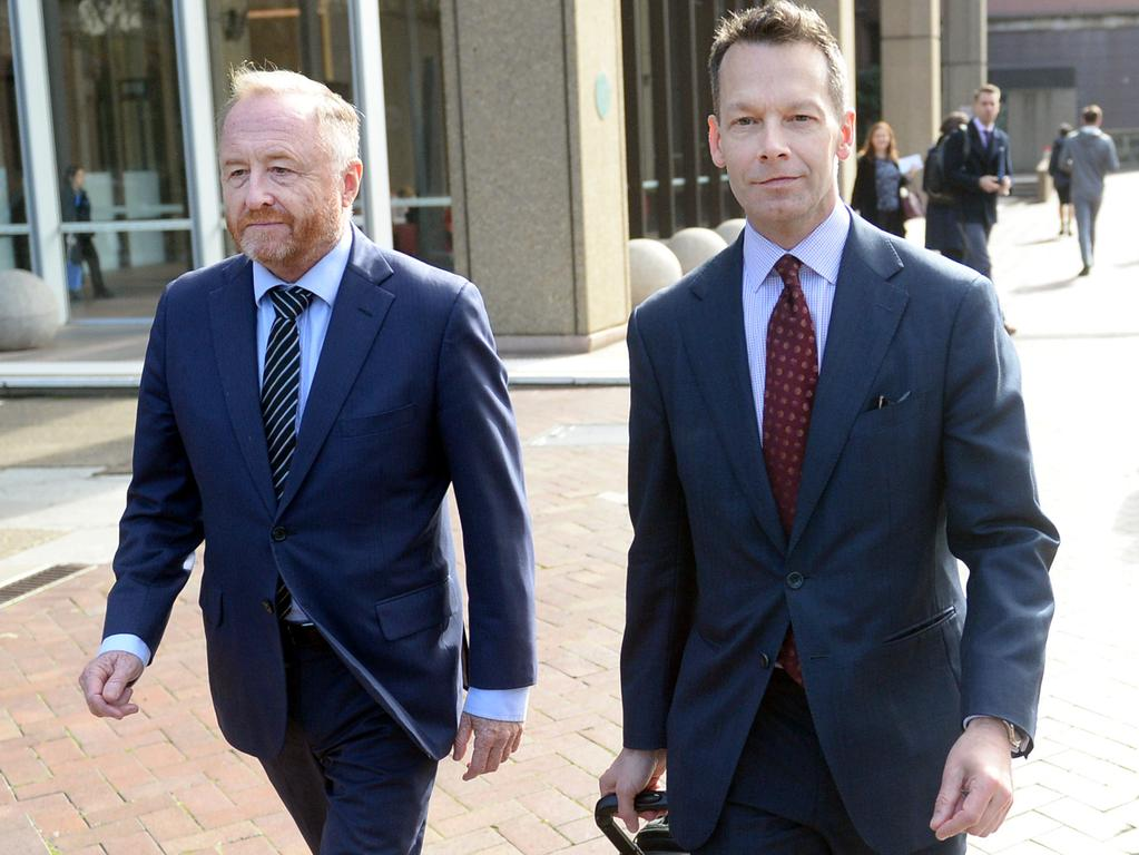 ABC legal representatives leave the Federal Court in Sydney. Picture: AAP