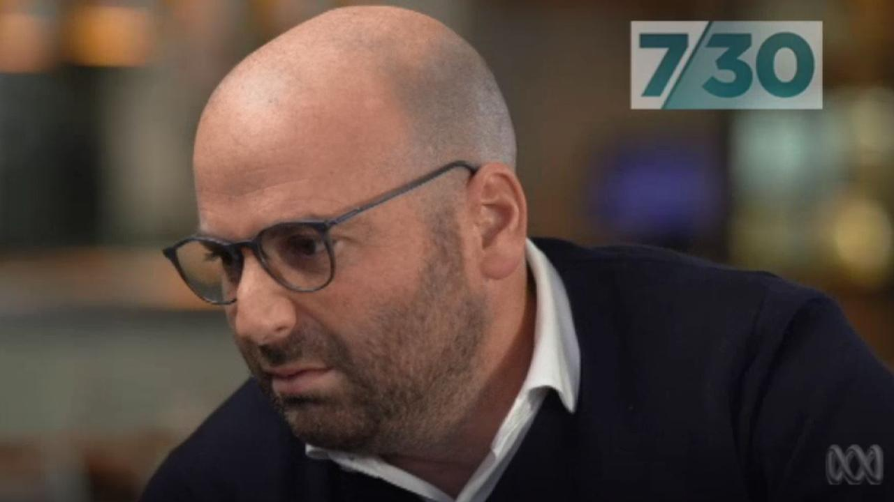 George Calombaris spoke about the underpayment scandal on 7.30 this week. Picture: ABC