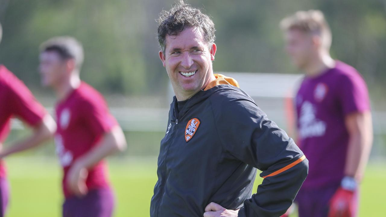 Roar coach Robbie Fowler on the training paddock. Picture: AAP