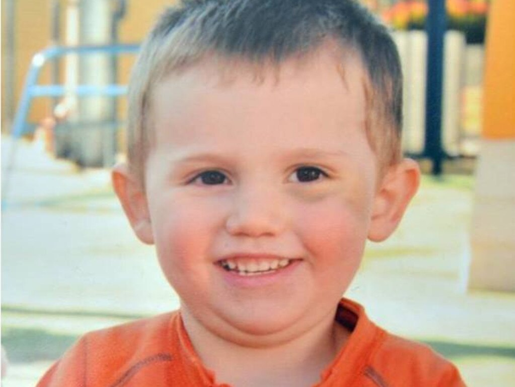William Tyrrell's left eye was bruised after an accidental fall the last time his biological parents ever saw him.