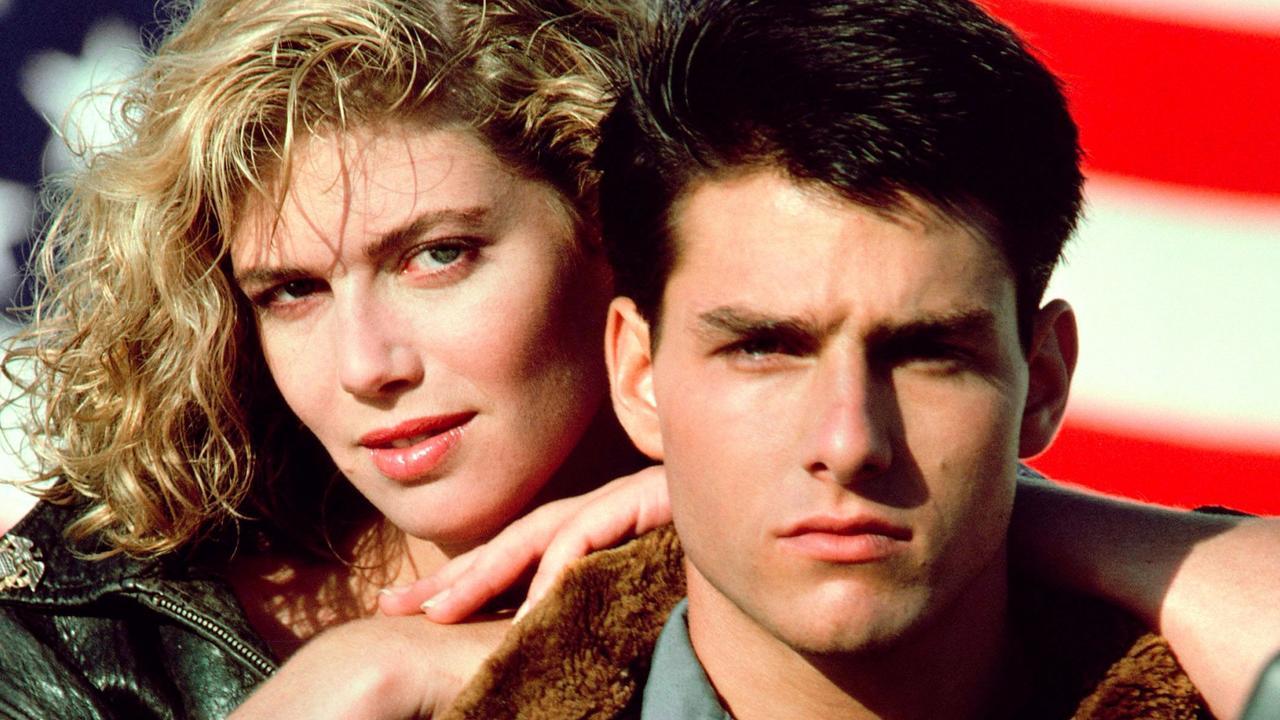Kelly McGillis and Tom Cruise in the original Top Gun movie in 1986.