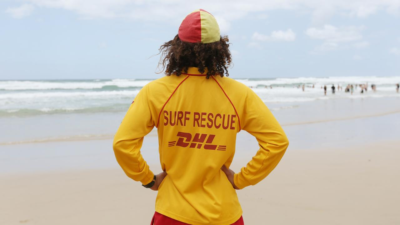 Gold Coast lifesavers on patrol. Picture: Brendan Radke.