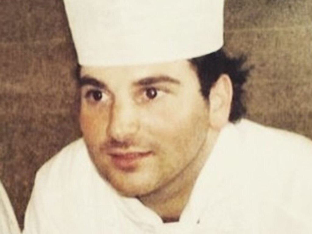 George Calombaris during his TAFE apprenticeship.