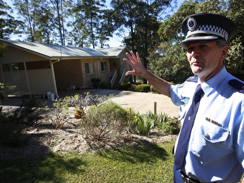 Police commander Paul Fehon outside the house where the tragedy unfolded in September 2014. Picture: David Moir.