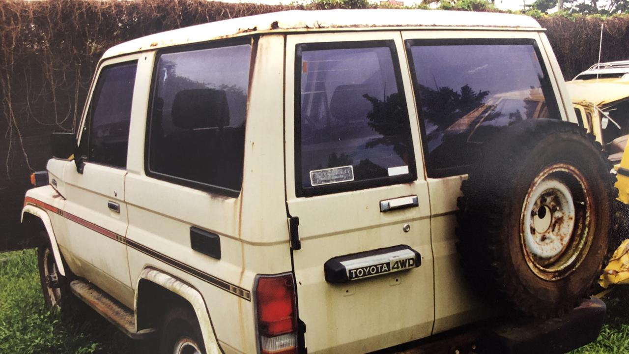 The Toyota LandCruiser belonging to Cairns man Marko Jekic.