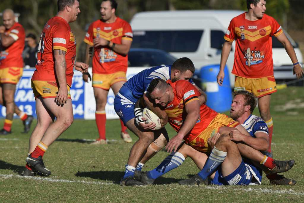 Image for sale: Coffs Harbour Comets lock did a mountain of work in the middle against the Grafton Ghosts.