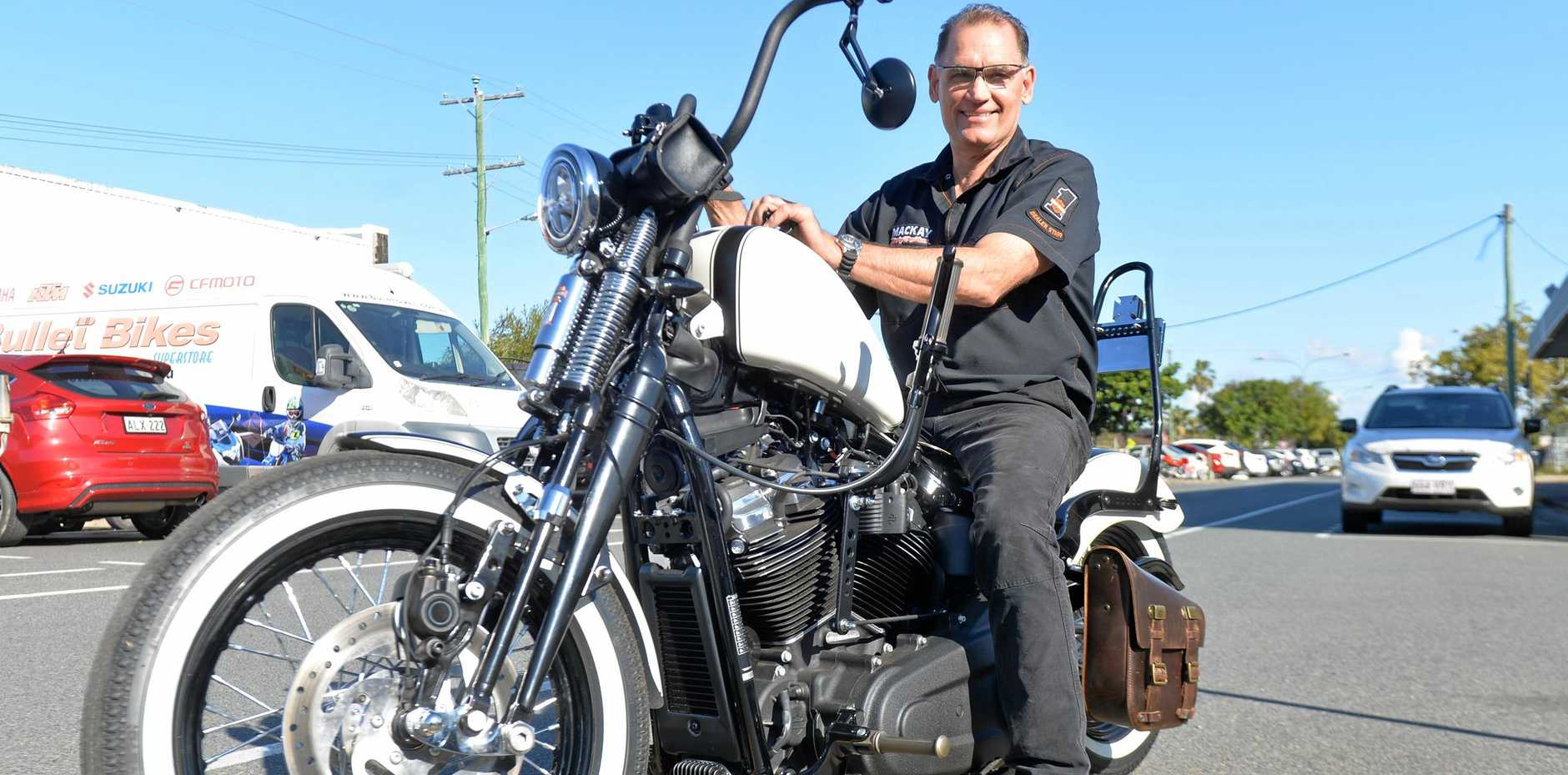 Mackay Harley-Davidson dealer principle Scott Gralow on one the 8808 registered motorbikes in the greater Mackay region.