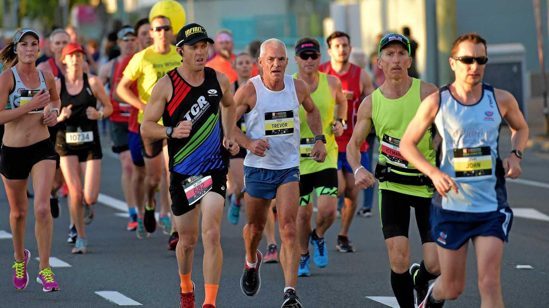 Runners take part in the Sunshine Coast Marathon last year.