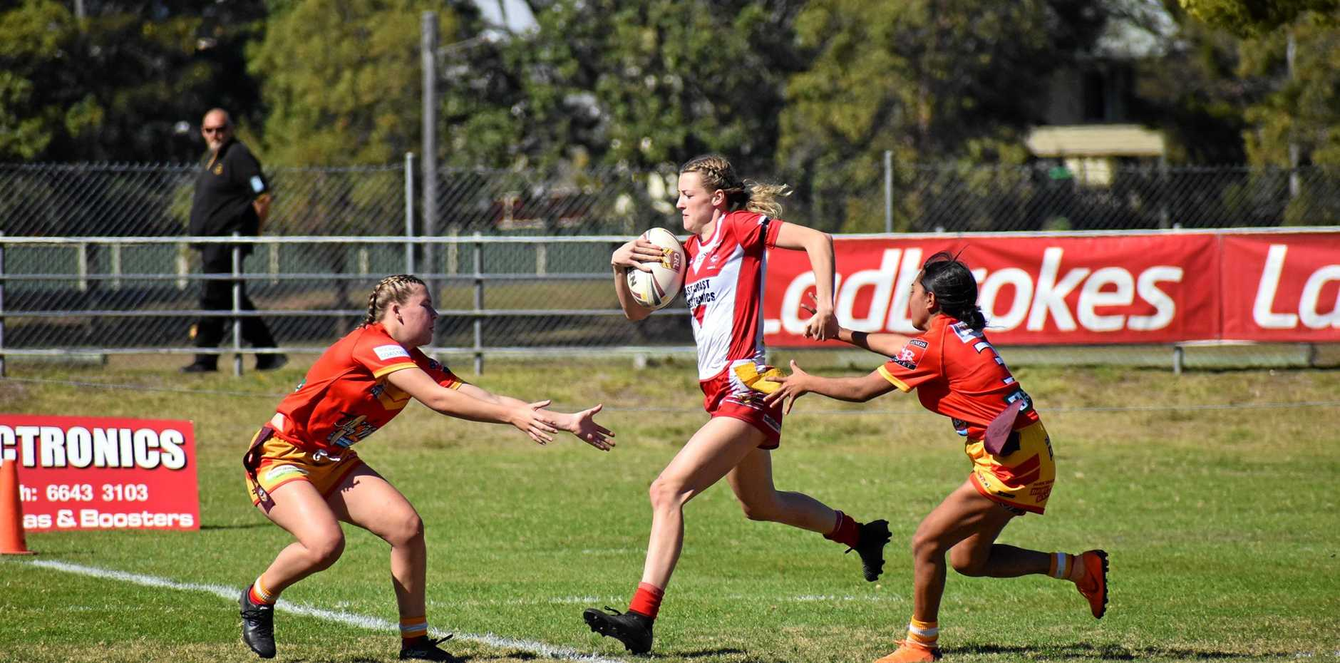 TIGHT GAME: South Grafton Rebels take on Coffs Harbour Comets at McKittrick Park on Saturday.