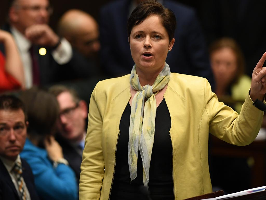 Mulgoa MP Tanya Davies says it is 'beyond belief' the bill doesn't mention the word 'women'. Picture: AAP