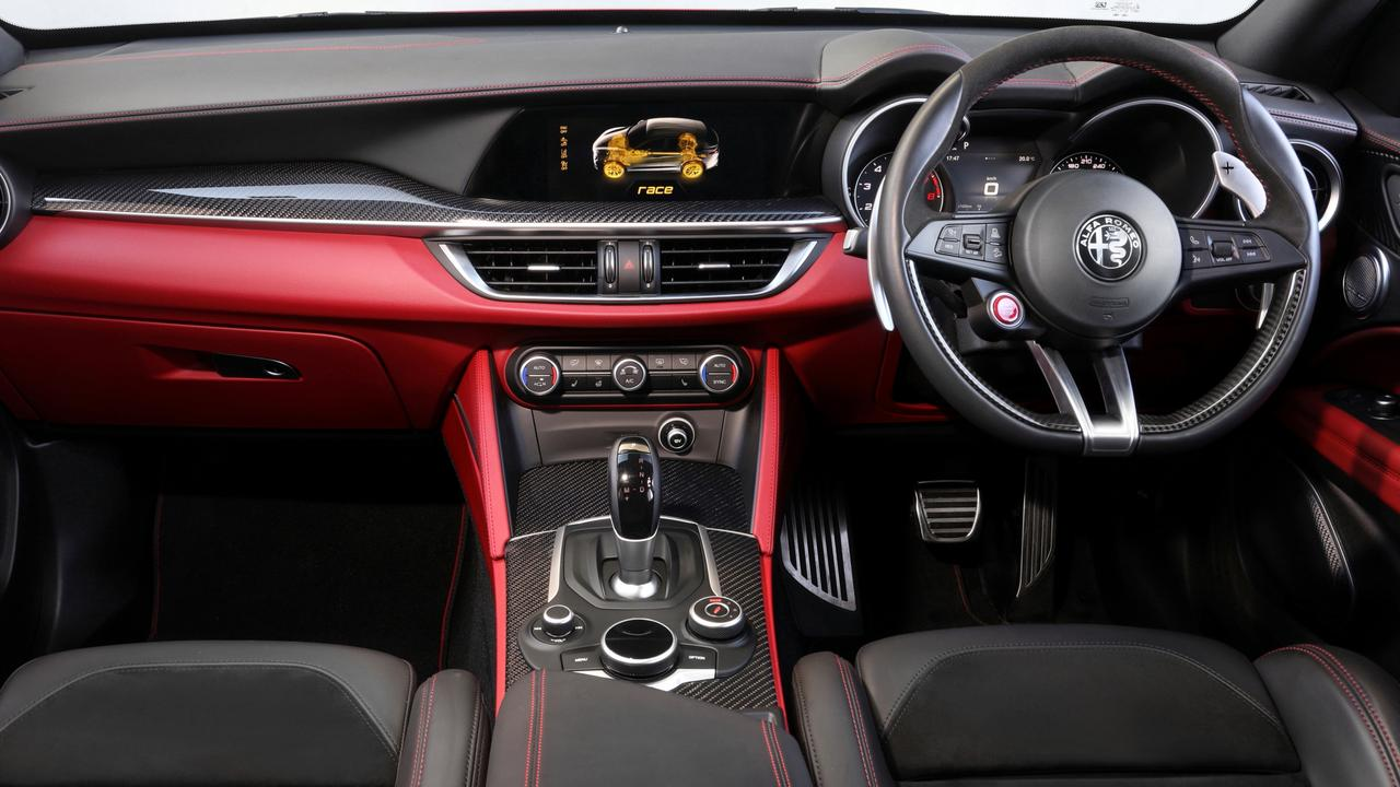 Alfa has gone for a more conventional cabin feel.