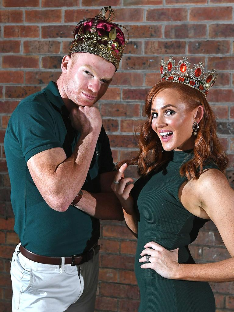 Both red-headed hotties have won a modelling contract to kick-start their modelling careers. Picture: AAP/John Gass
