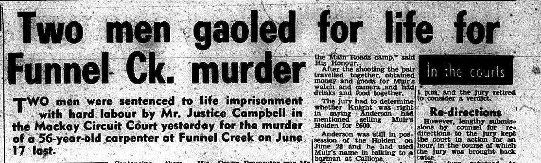 Articles by the Daily Mercury about the Funnel Creek murders