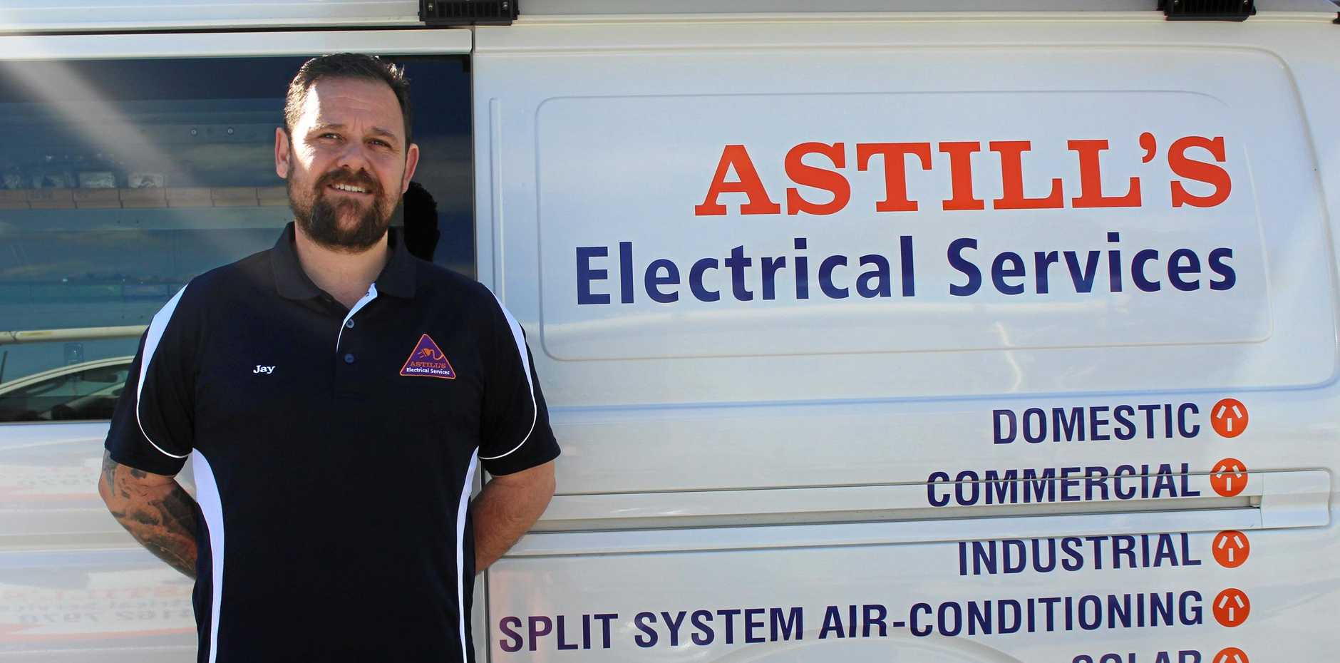 Astill's Electrical Services Supervisor Jay Hilsley said workplace and employee health and safety is very important.