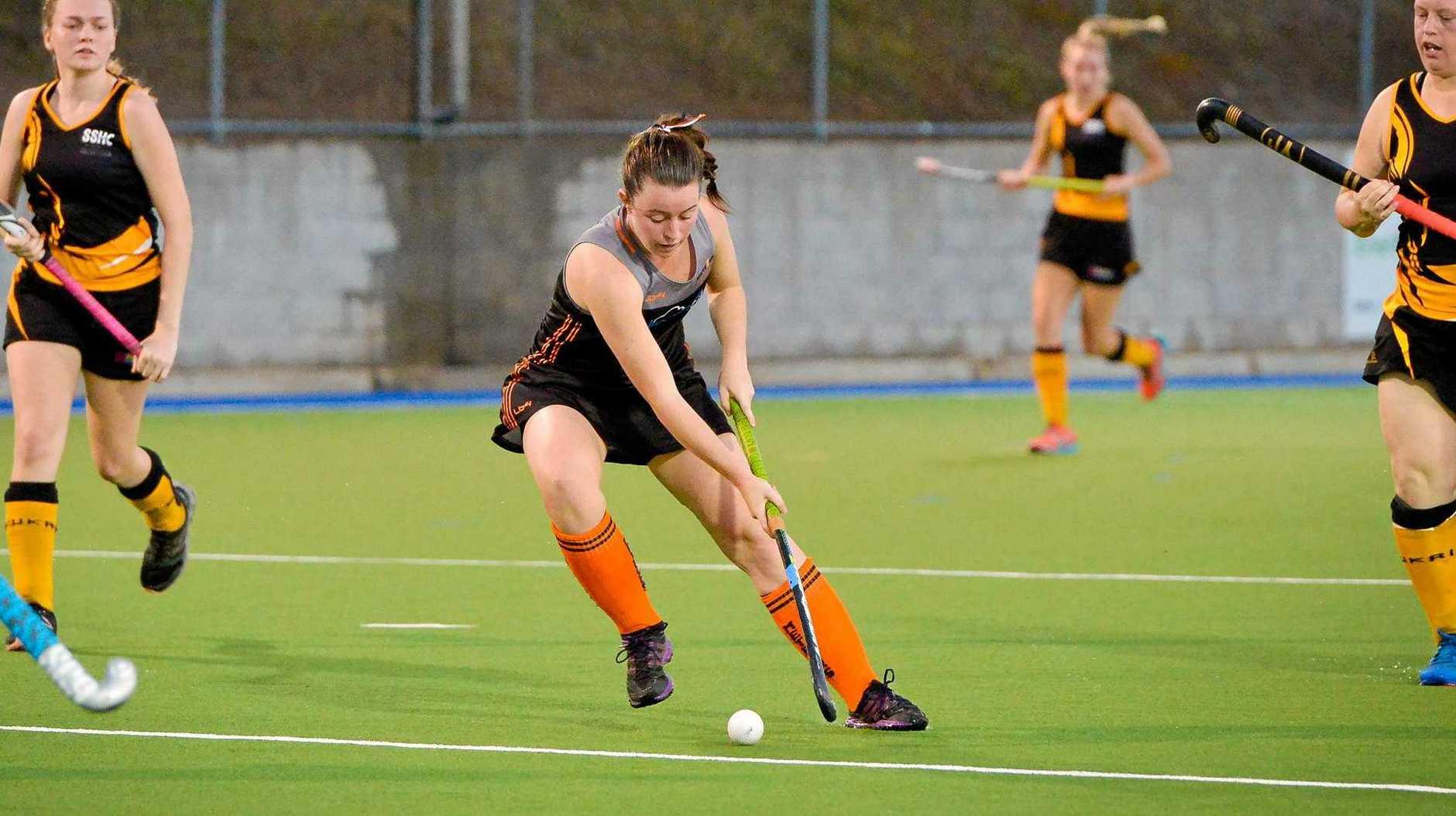 Meteors Kellie Pagel.Womans A1 hockey grand final - Gladstone Meteors vs Rockhampton Souths.