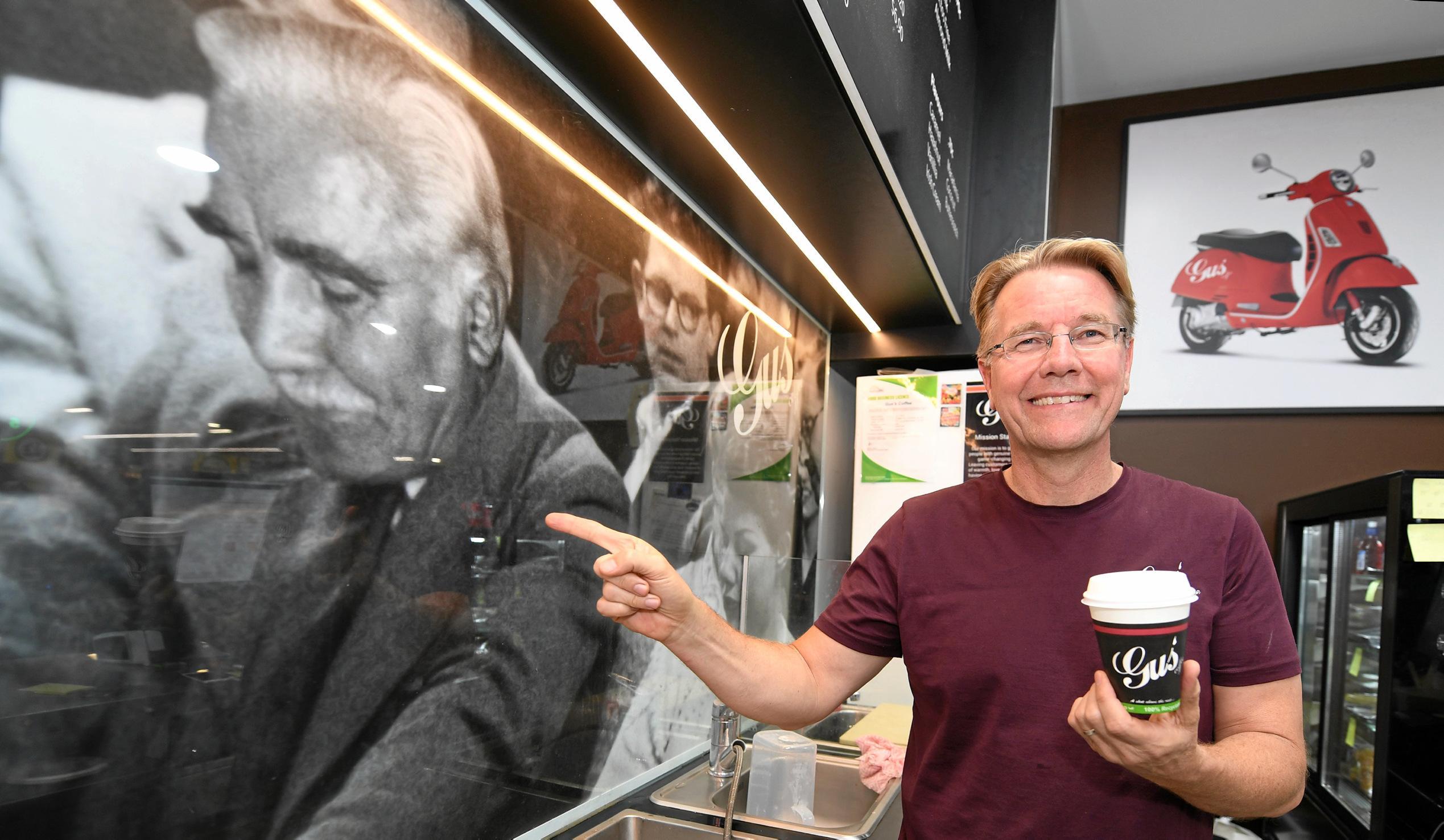 Gus' Coffee owner Gus Korda.