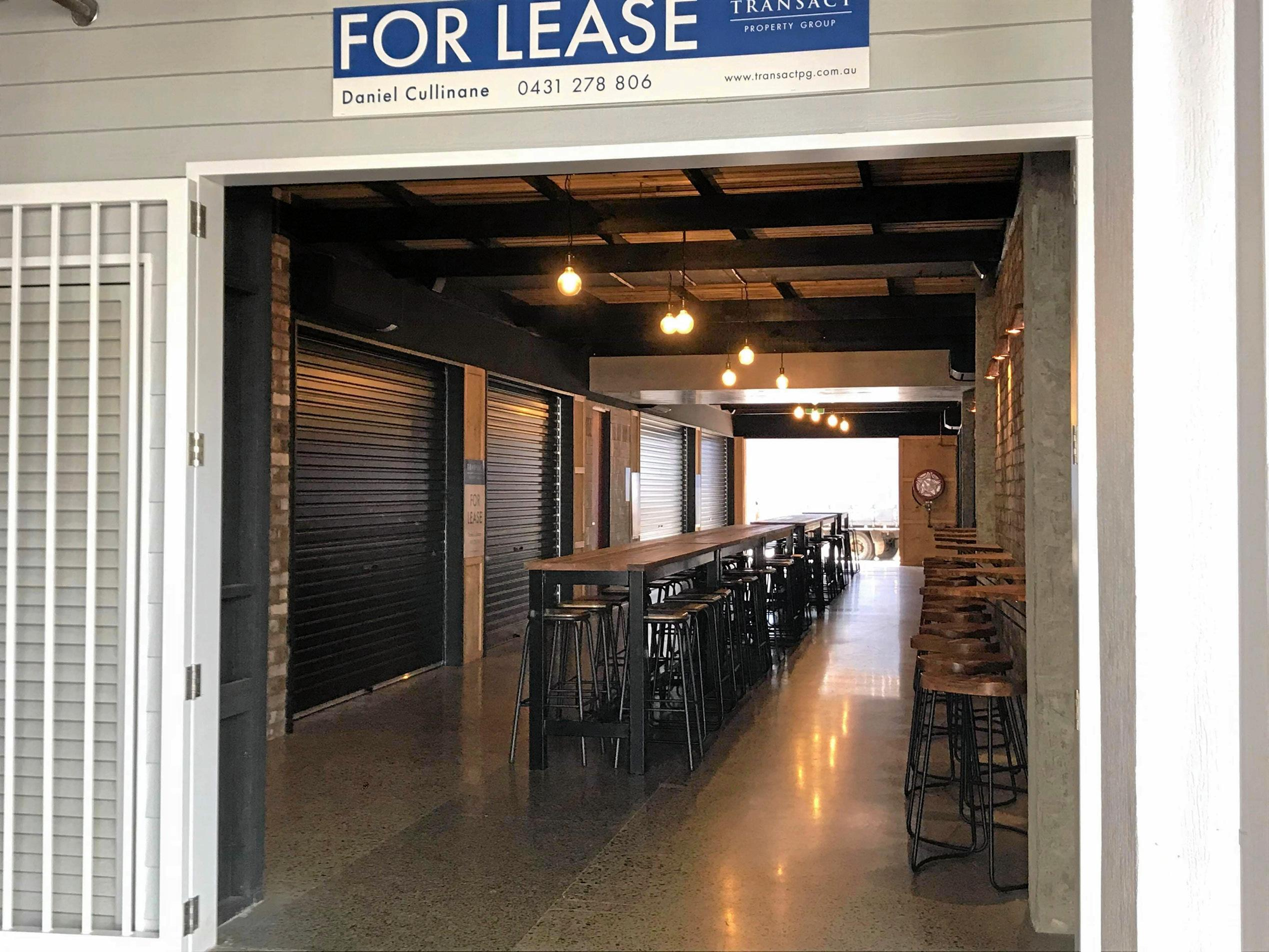 AVAILABLE: A laneway tenancy is available at The Wharf.
