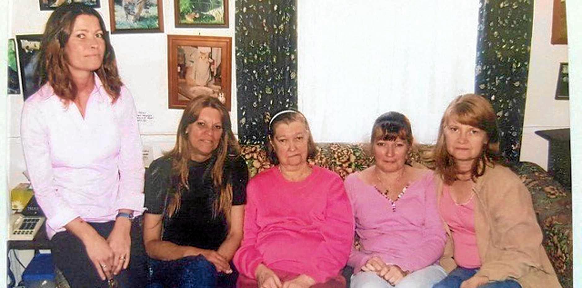 ELLEN WILSON'S FAMILY: (From left) Sisters Fiona Browne, Charlotte Gibson, Mum Sylvia Wilson, Ellen Wilson and Elizabeth Crook.