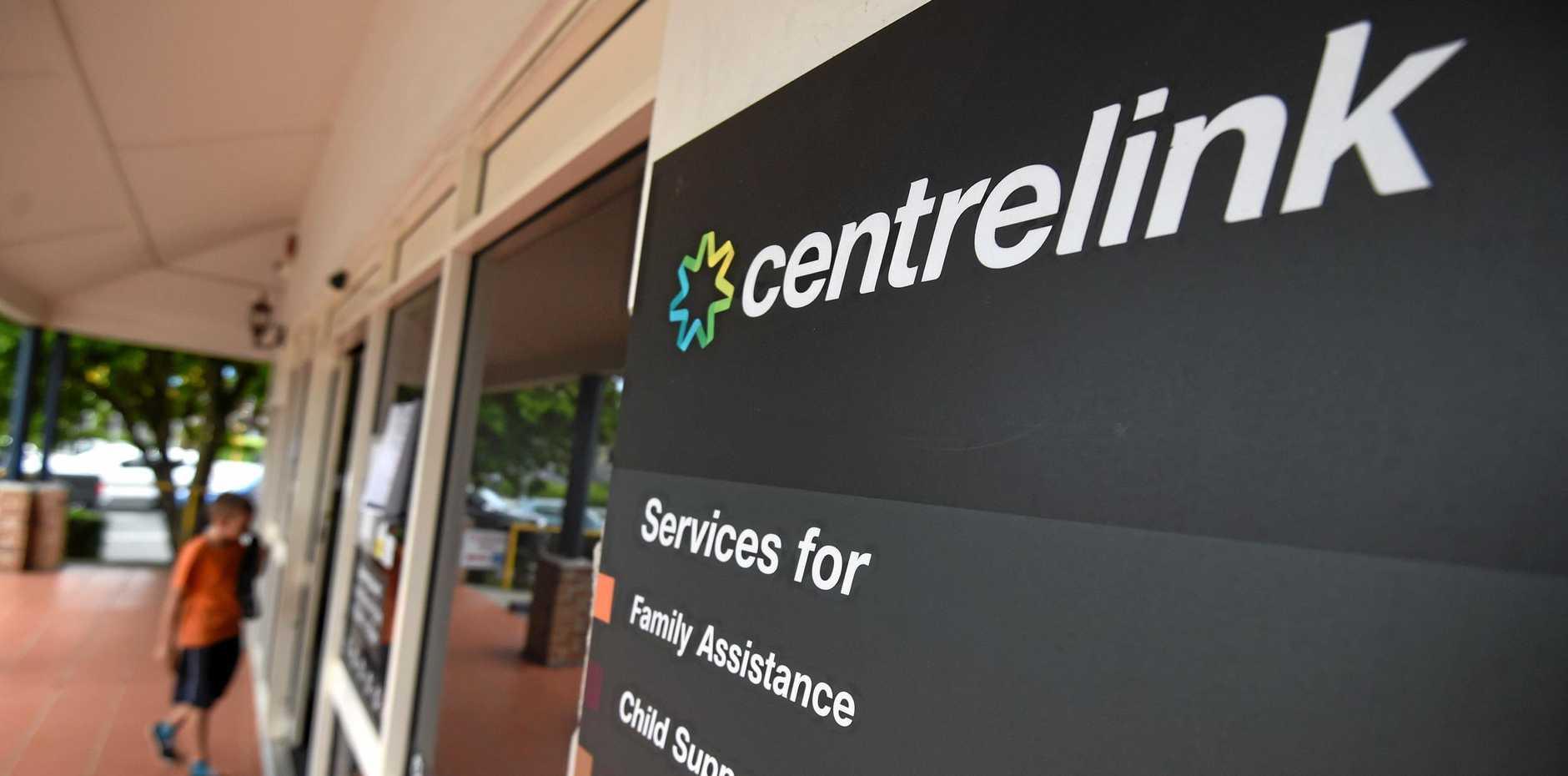 A Centrelink office.