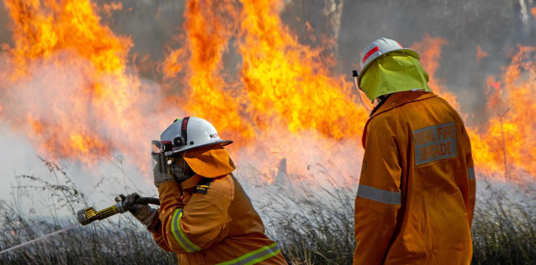 DANGER: A total fireban will be in place from tomorrow with dangerous fire conditions expected. It comes after 150 rural fire crews spent the weekend in last ditch preparation efforts for the upcoming season.