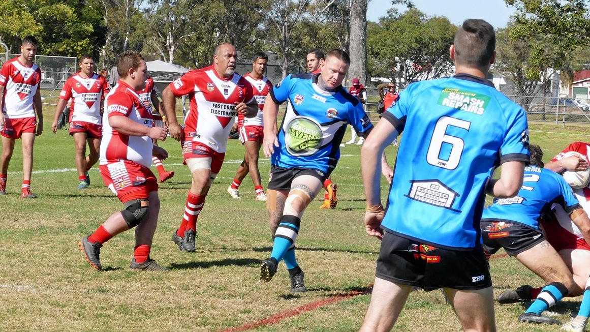 HE'S BACK: Rebels super veteran reserve grade hooker Stevie Kirby has turned back the clock to the days when he was merely a veteran guiding forward packs around the field.