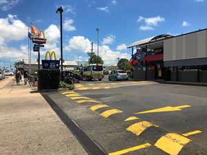 End of road for U-turn at Maccas