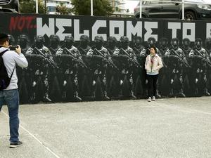 Battle to save anti-totalitarian mural begins