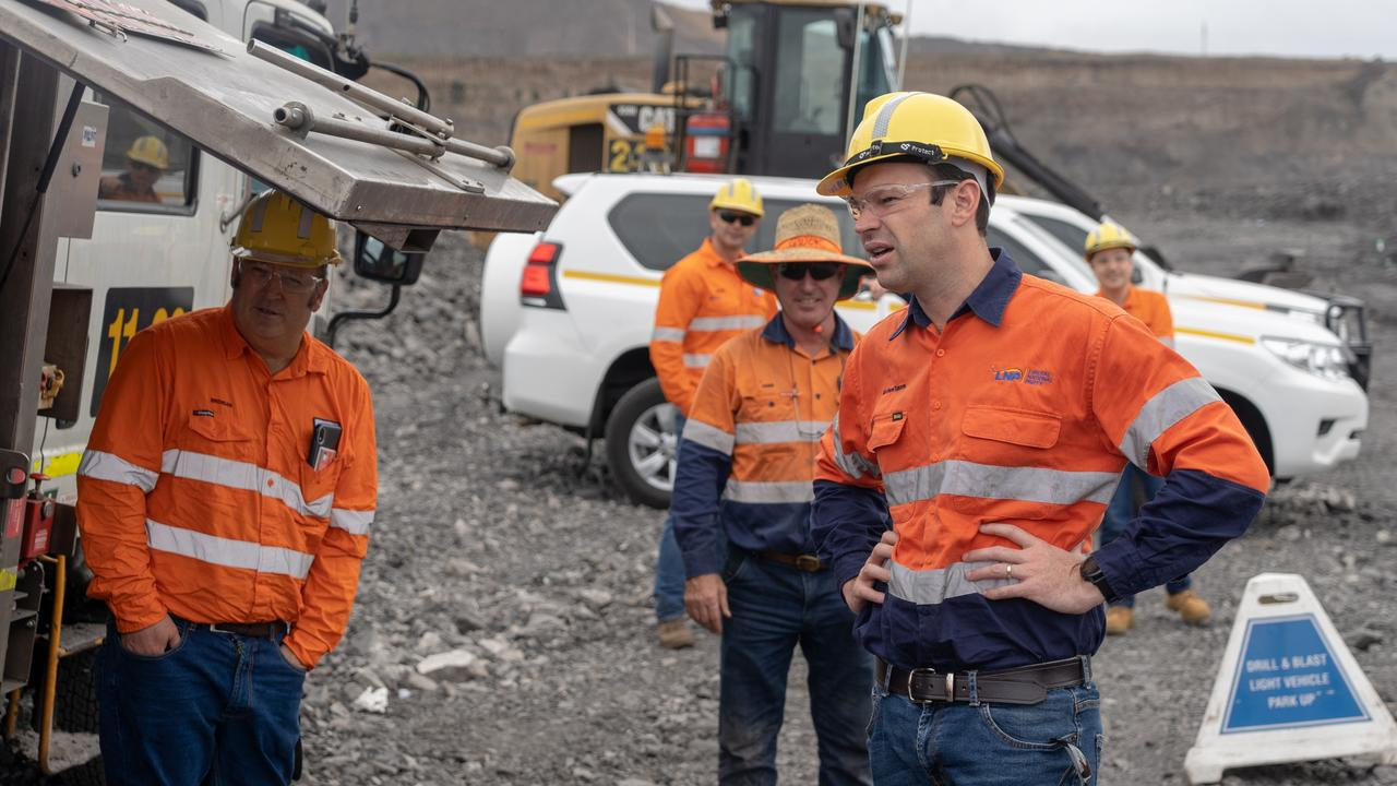 Matt Canavan at Peak Downs mine in Central Queensland.