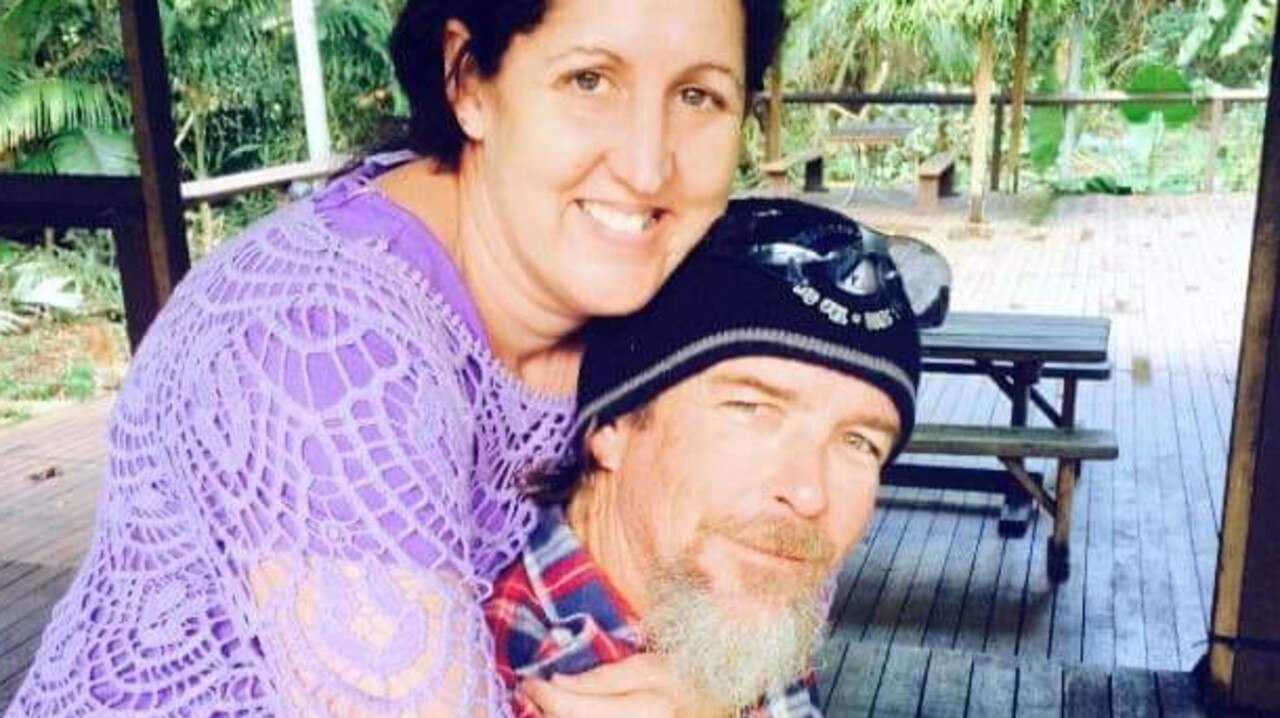 Mareeba man Kevin Dolan is recovering in Cairns Hospital from horrific injuries suffered in a crane rollover. Wife Sharon Cleall has been by his side throughout. Picture: Facebook