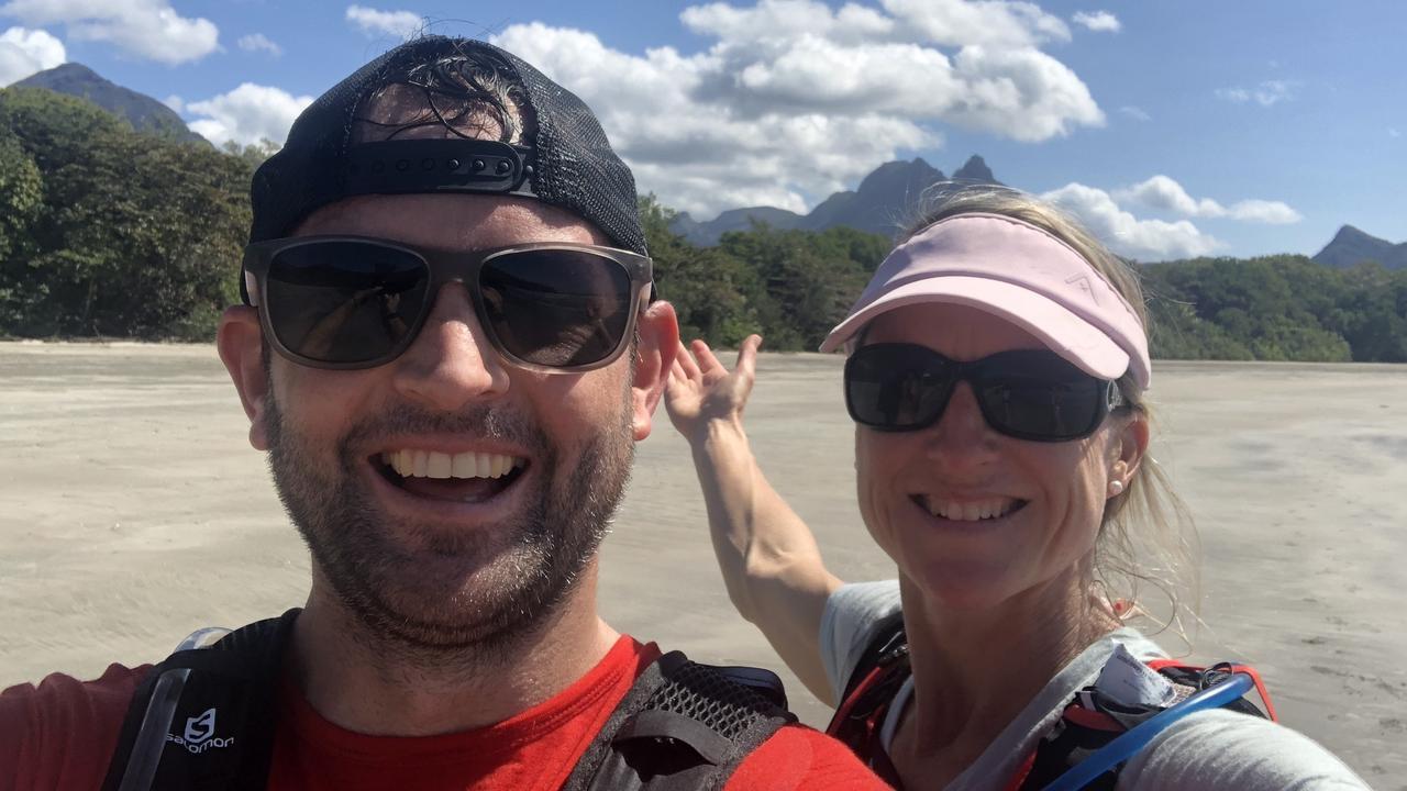 Luke Edwards and Lisa Marshall on Hinchinbrook Island.