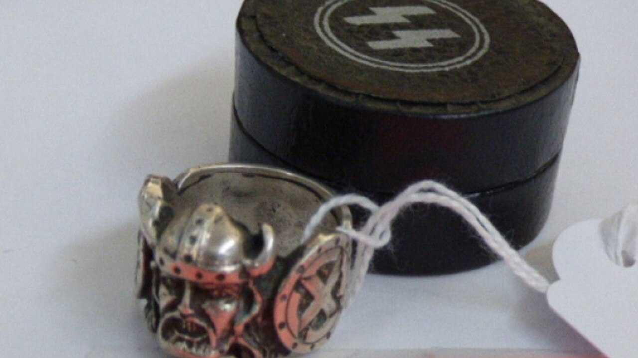 SS RING: Nazi memorabilia for sale in a Tasmanian auction catalogue has angered Jewish groups.