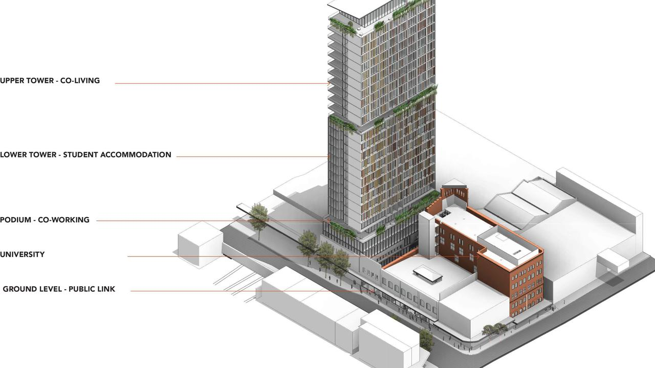 Early plans for the former Waltons department store site in Fortitude Valley.