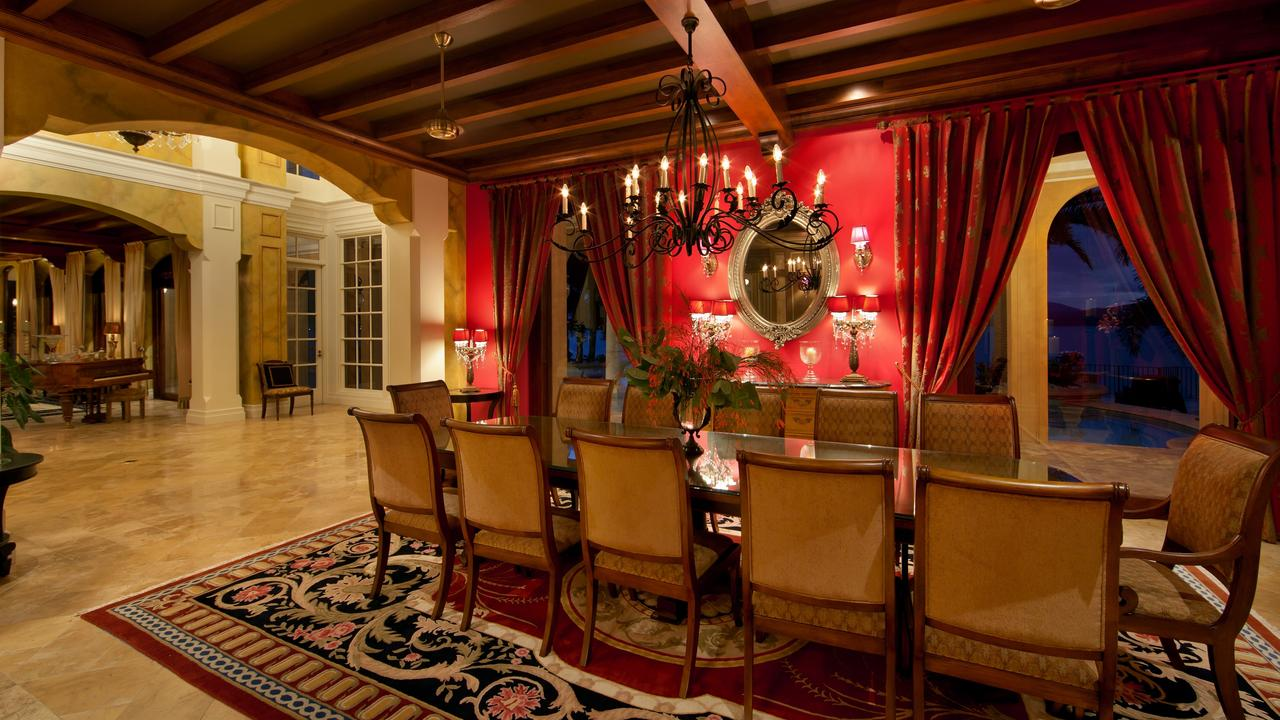 The formal dining room in Mandalay House.