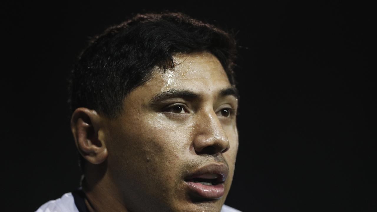 SYDNEY, AUSTRALIA - AUGUST 01: Jason Taumalolo of the Cowboys looks on during the round 20 NRL match between the Wests Tigers and the North Queensland Cowboys at Leichhardt Oval on August 01, 2019 in Sydney, Australia. (Photo by Mark Metcalfe/Getty Images)