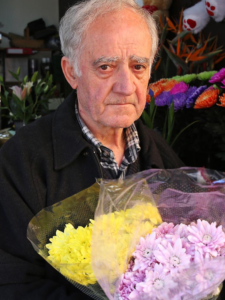 Florist Emmanuel Theo-Harris. Picture: Toby Zerna
