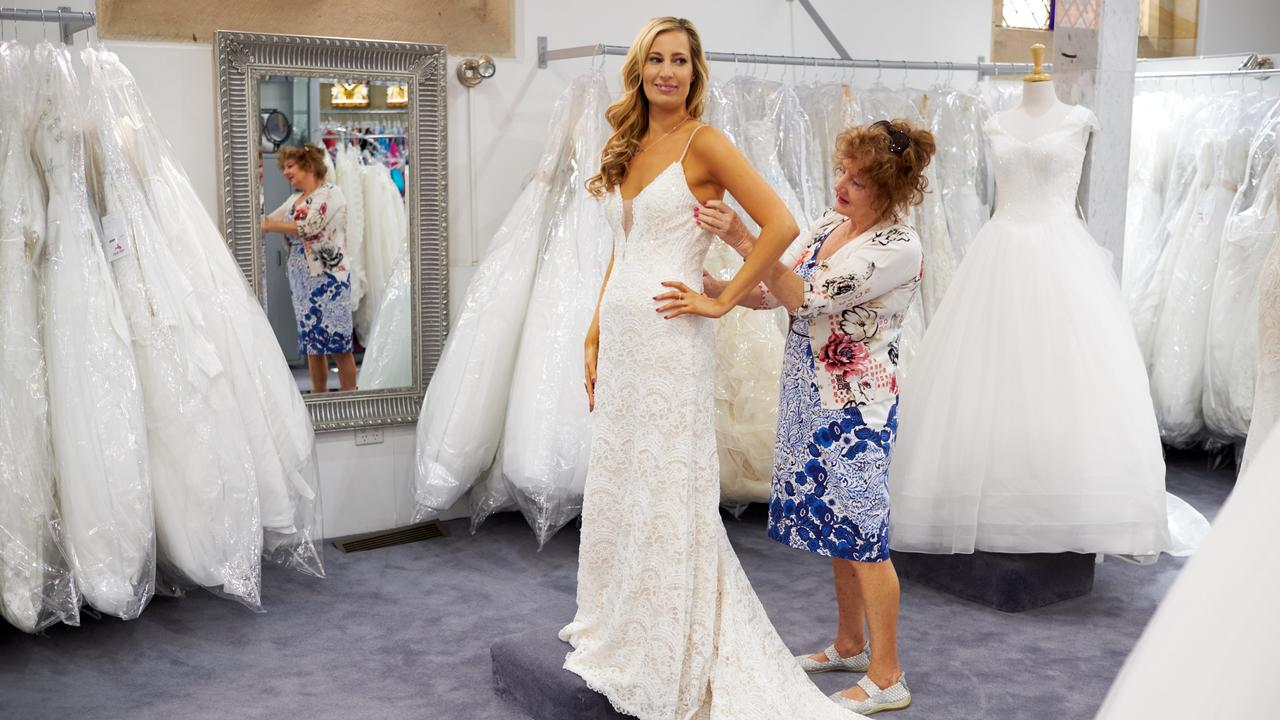 Despite Married At First Sight's success, they've been caught buying wedding gowns from op shops. Picture: Supplied