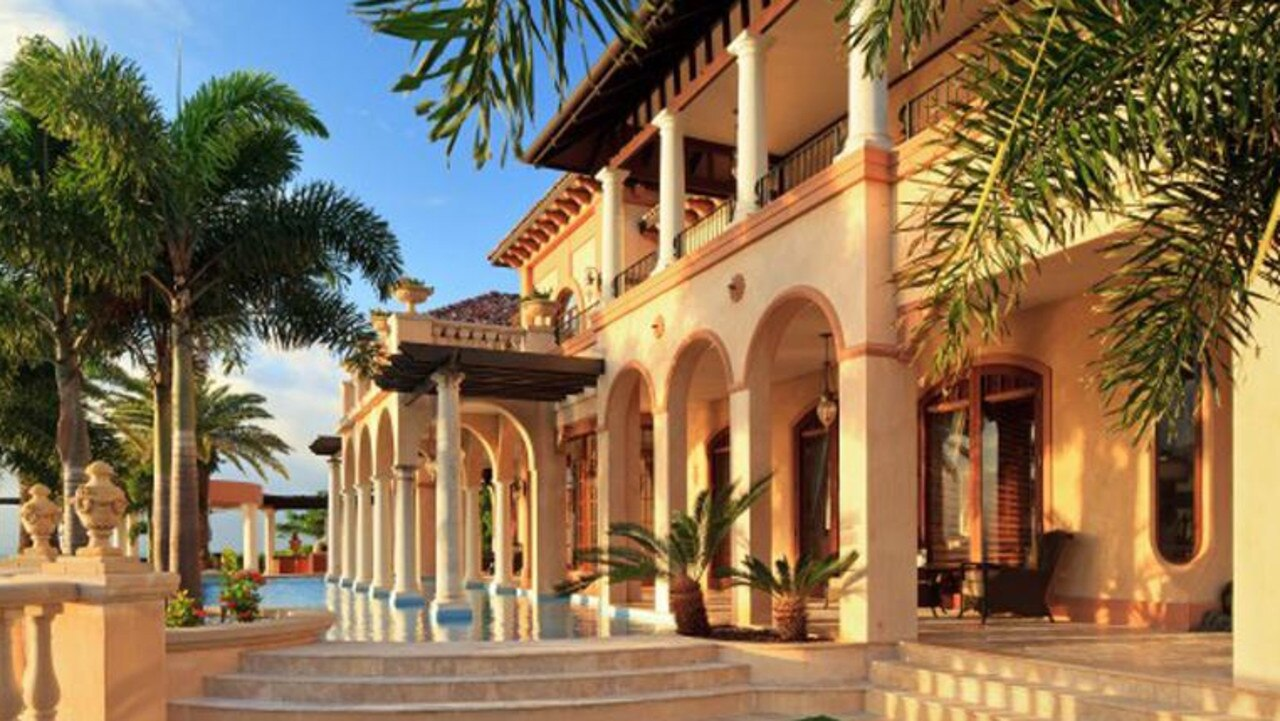 The Mediterranean-style home was inspired by Lake Como, Nice and Monaco.