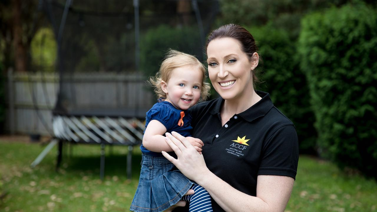 Jana Pittman was diagnosed with early stages of cervical cancer which has since resolved itself. She is now training to be a gynaecologist. Picture: Australian Cervical Cancer Foundation