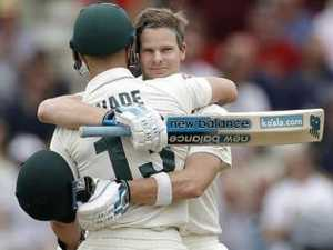 Aussies well on top after Smith, Wade tons