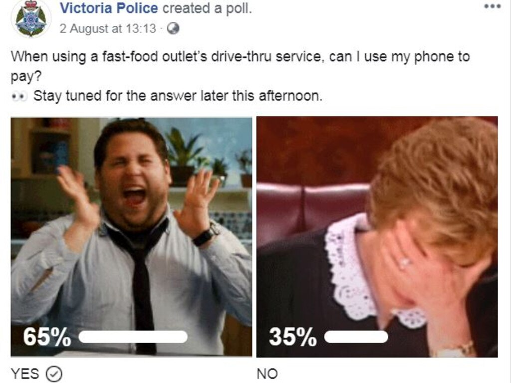 The majority of voters got the question wrong. Picture: Victoria Police/Facebook