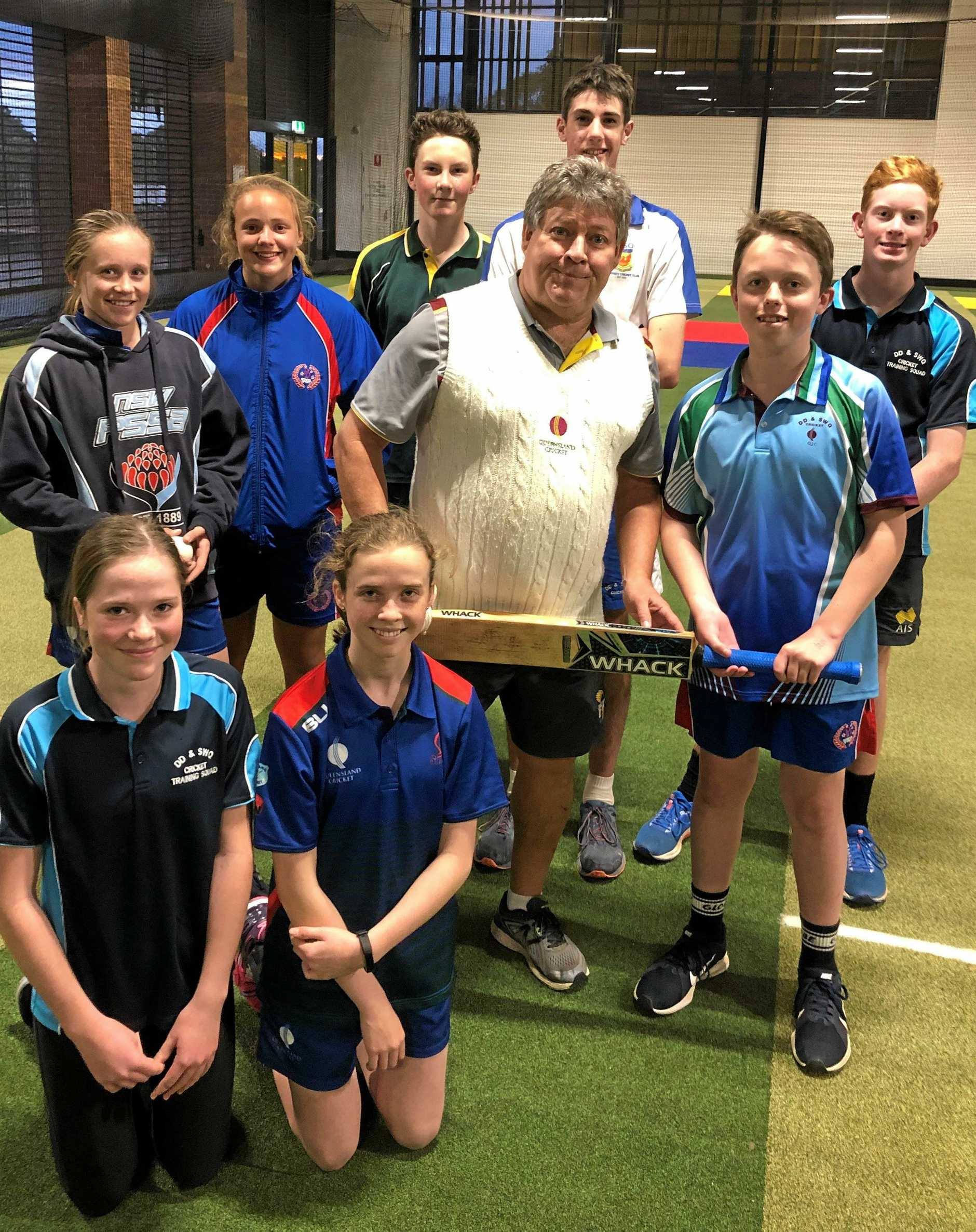 LEARNING FROM THE BEST: Darling Downs members of the Youth Pathways Academy 2019/20 are (back, from left) Layla Proctor, Felicity Koch, Aidan White, Joseph Fry, Callum Galvin and (Mmddle, from left) coach Andy Richards and Matthew Spanner. and (front, from left) Jasmine Lewis and Bree Craven.