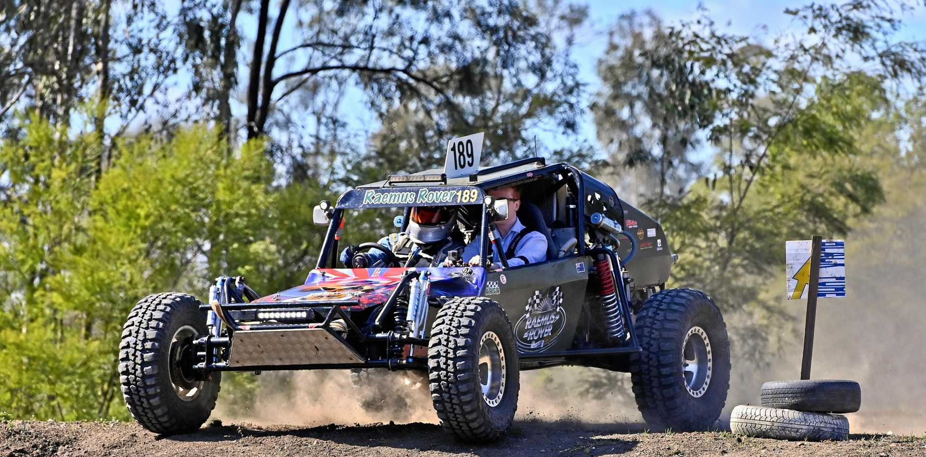 RSL RAEMUS Rover Off-Road Racing Team are based at Willowbank thanks to an agreement with Ipswich City Council