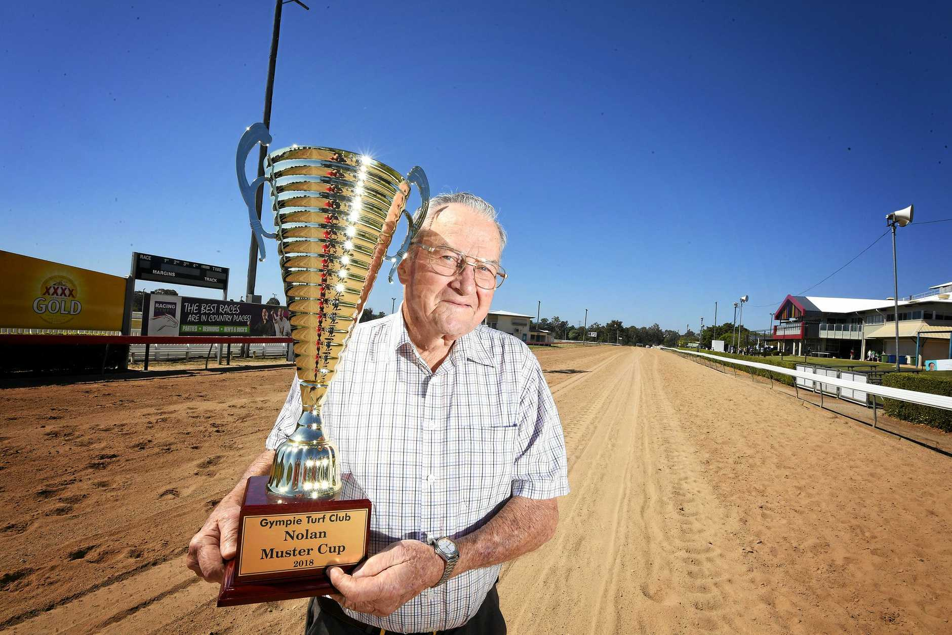 Pat Nolan getting ready for Gympie Muster Cup.